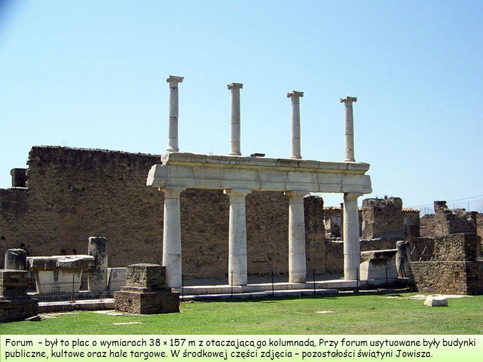 Forum – był to plac o wymiarach 38 × 157 m z otaczającą go kolumnadą