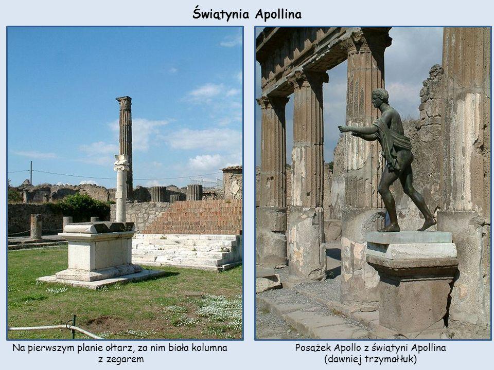 Świątynia Apollina Na pierwszym planie ołtarz, za nim biała kolumna