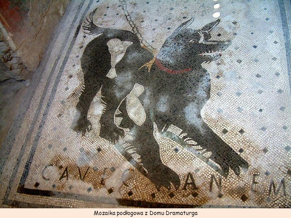 Mozaika podłogowa z Domu Dramaturga