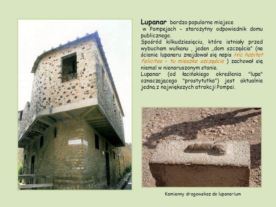 Kamienny drogowskaz do lupanarium