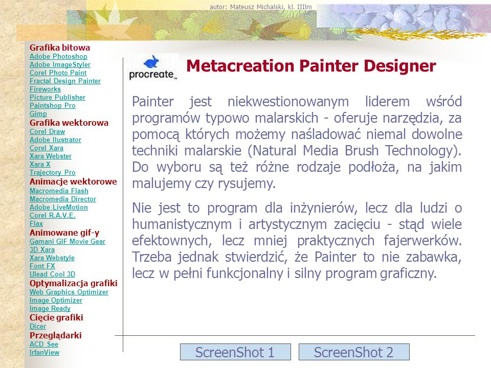 Metacreation Painter Designer