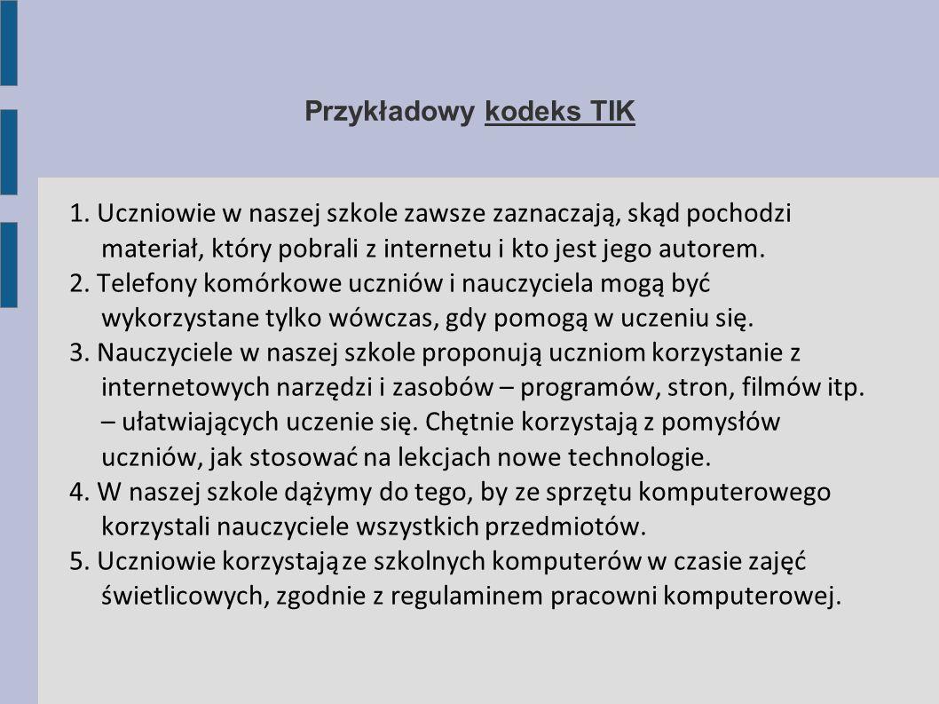 Przykładowy kodeks TIK