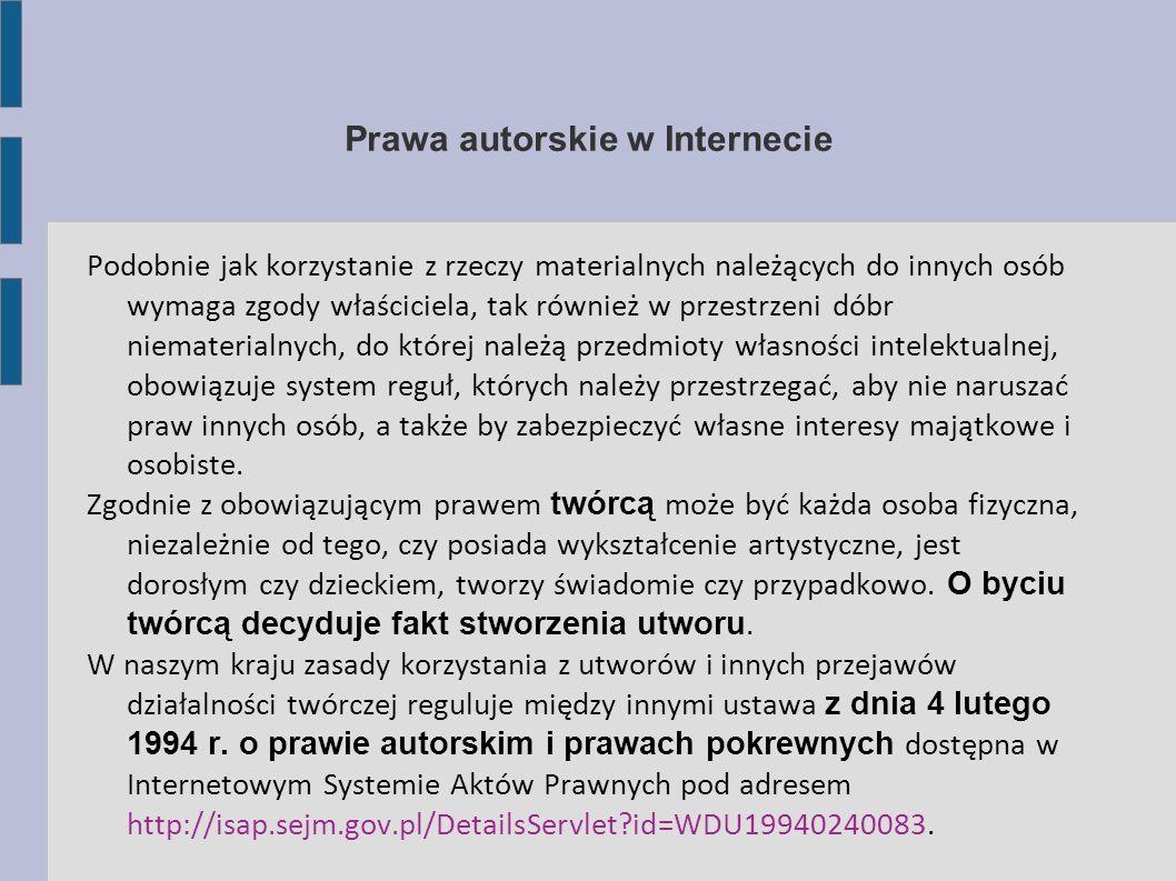 Prawa autorskie w Internecie