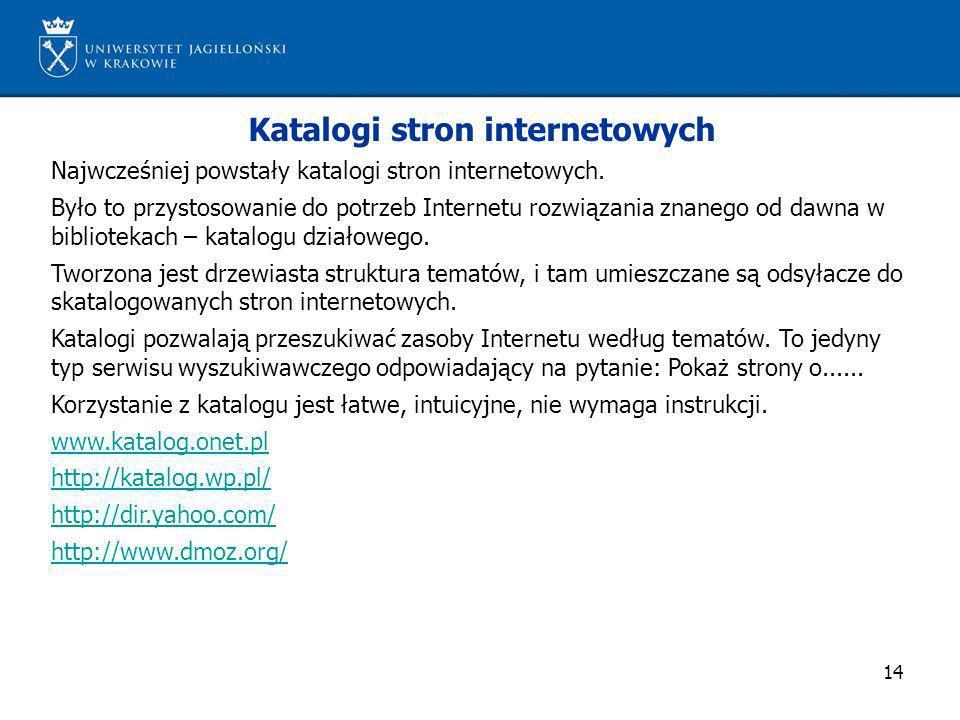 Katalogi stron internetowych