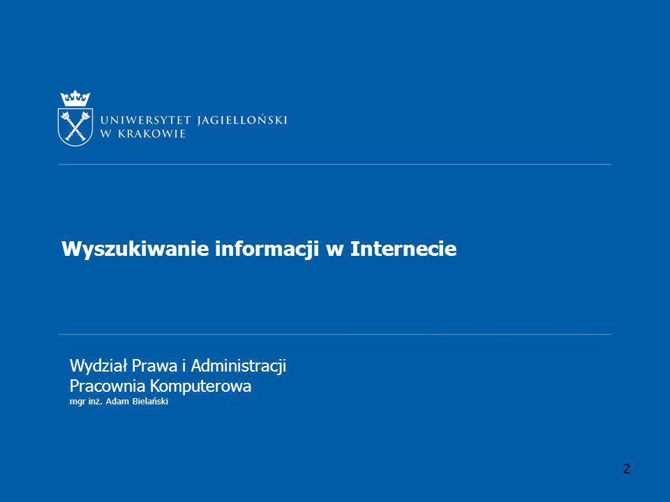 Wyszukiwanie informacji w Internecie