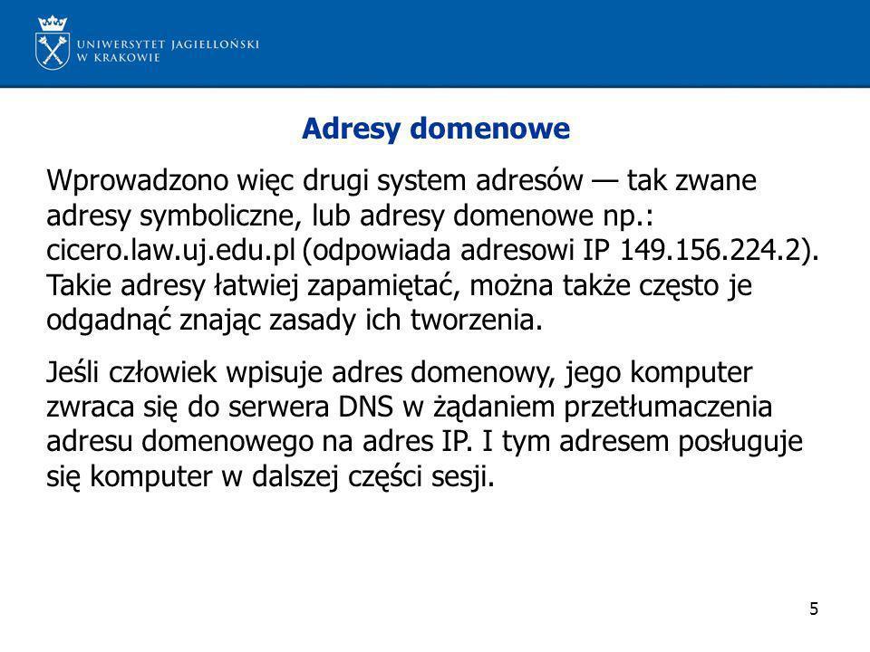 Adresy domenowe