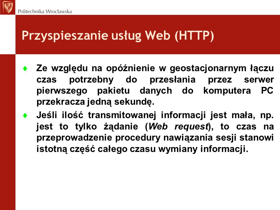 Przyspieszanie usług Web (HTTP)