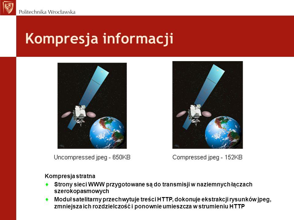 Kompresja informacji Kompresja stratna