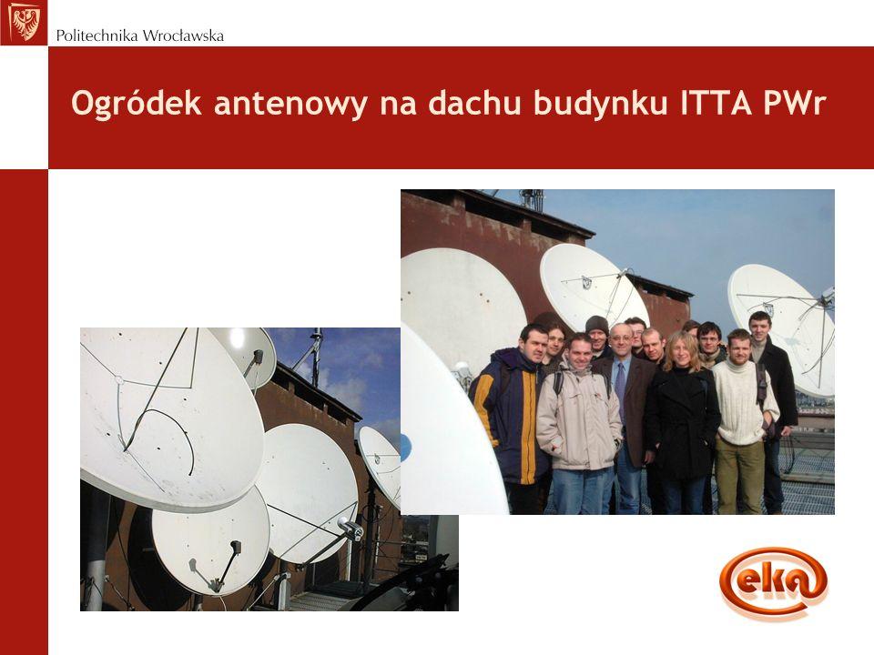 Ogródek antenowy na dachu budynku ITTA PWr