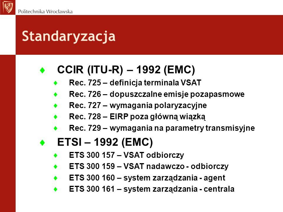 Standaryzacja CCIR (ITU-R) – 1992 (EMC) ETSI – 1992 (EMC)