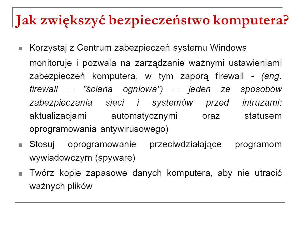 Jak zwiększyć bezpieczeństwo komputera