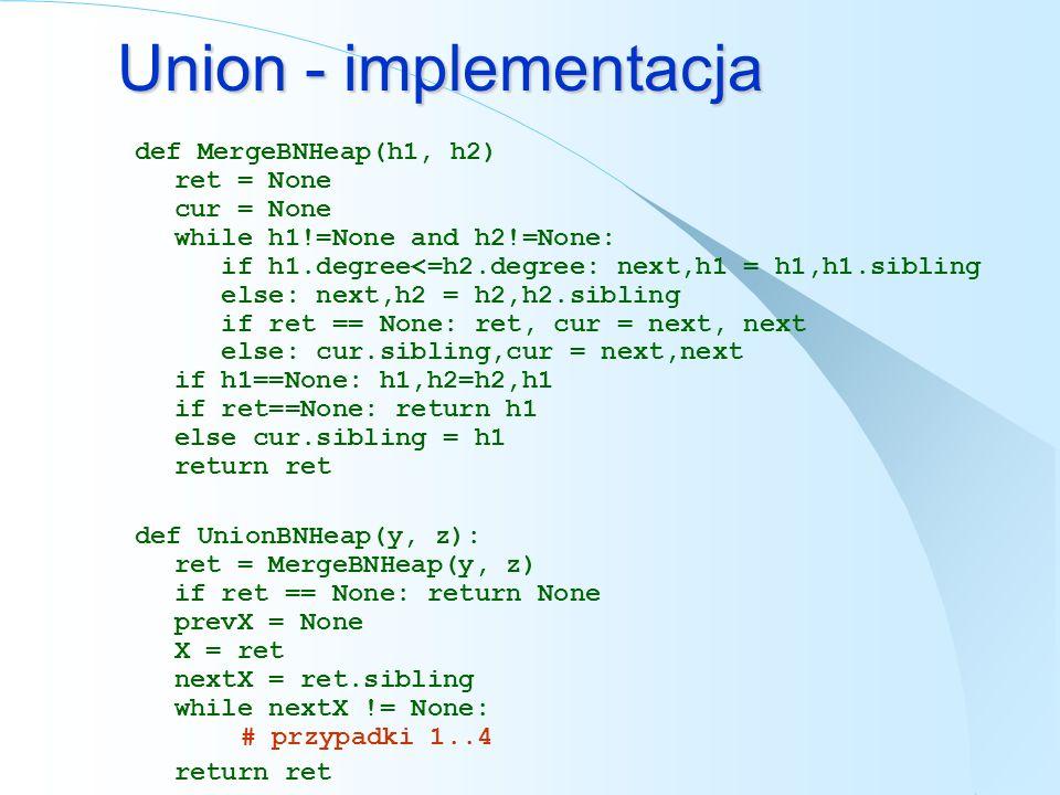 Union - implementacja