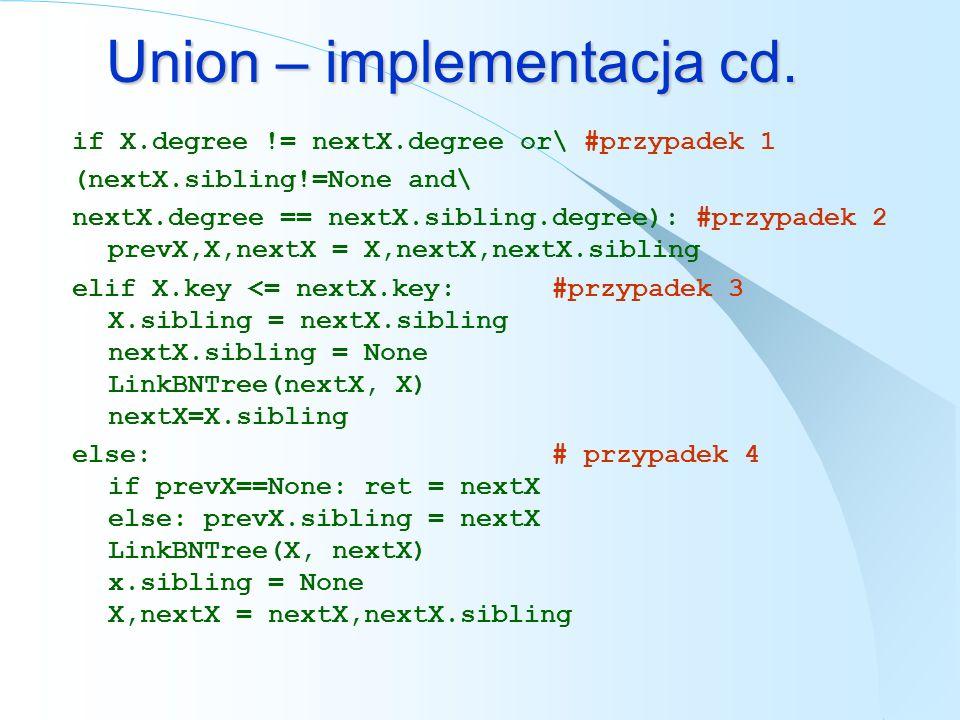 Union – implementacja cd.