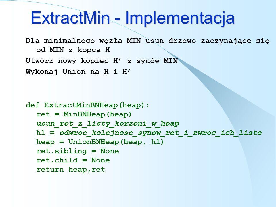 ExtractMin - Implementacja
