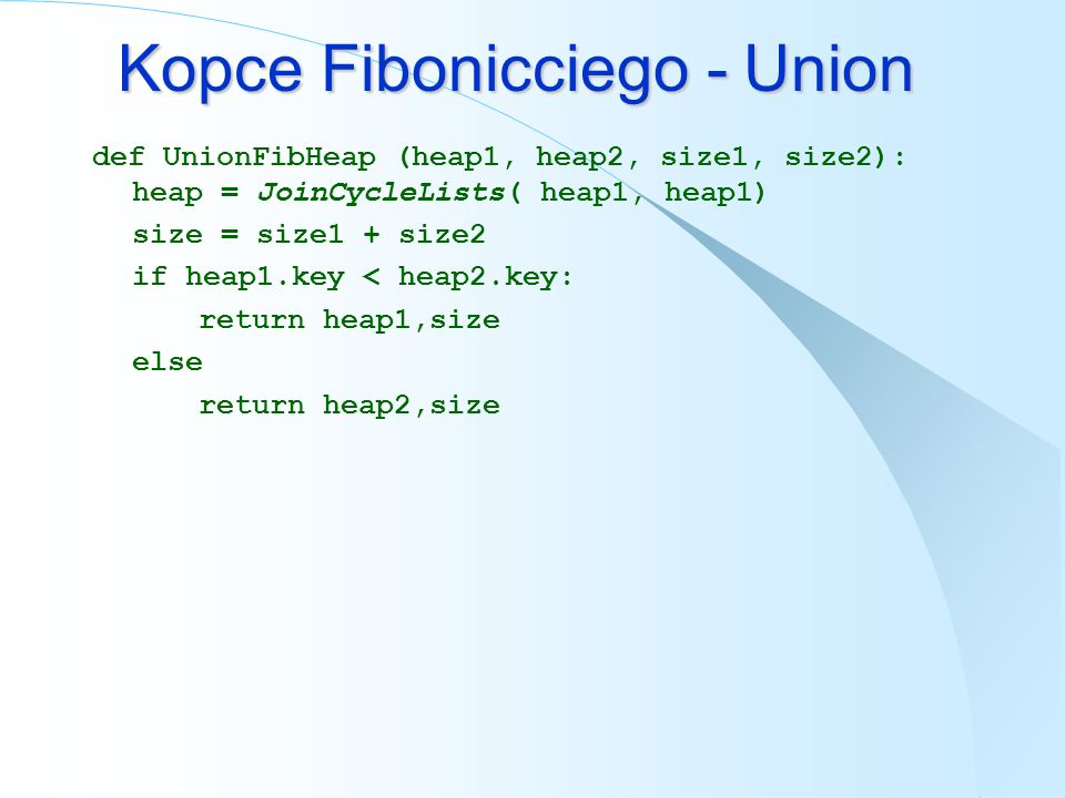 Kopce Fibonicciego - Union