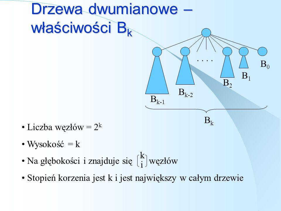 Drzewa dwumianowe – właściwości Bk
