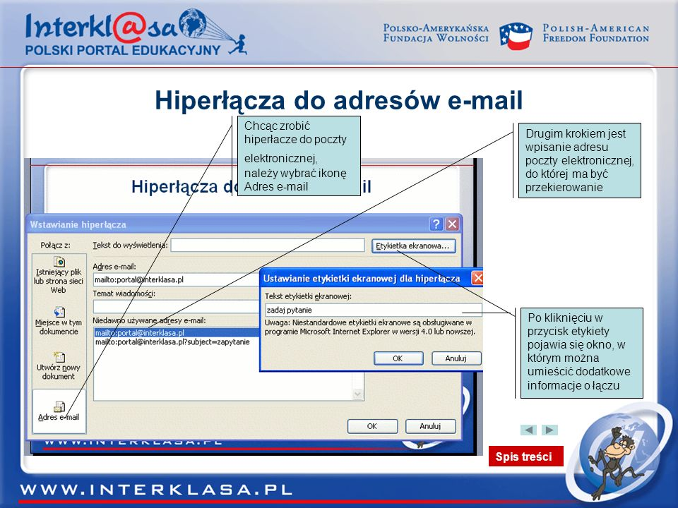 Hiperłącza do adresów e-mail