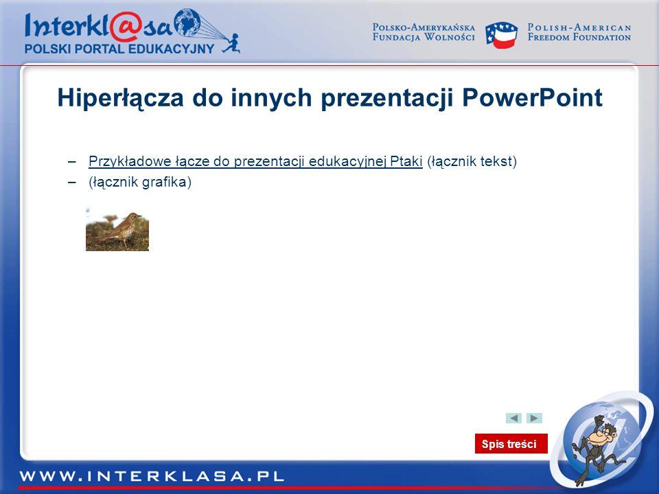 Hiperłącza do innych prezentacji PowerPoint