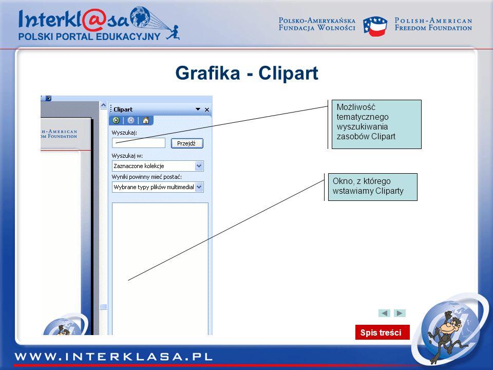 Grafika - Clipart Możliwość tematycznego wyszukiwania zasobów Clipart