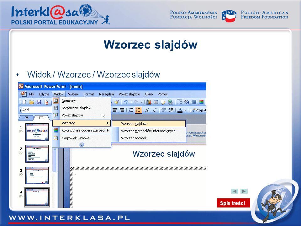 Wzorzec slajdów Widok / Wzorzec / Wzorzec slajdów
