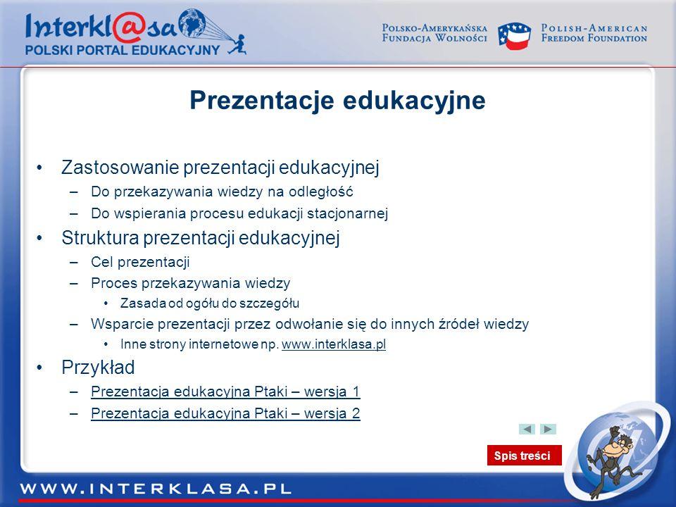 Prezentacje edukacyjne