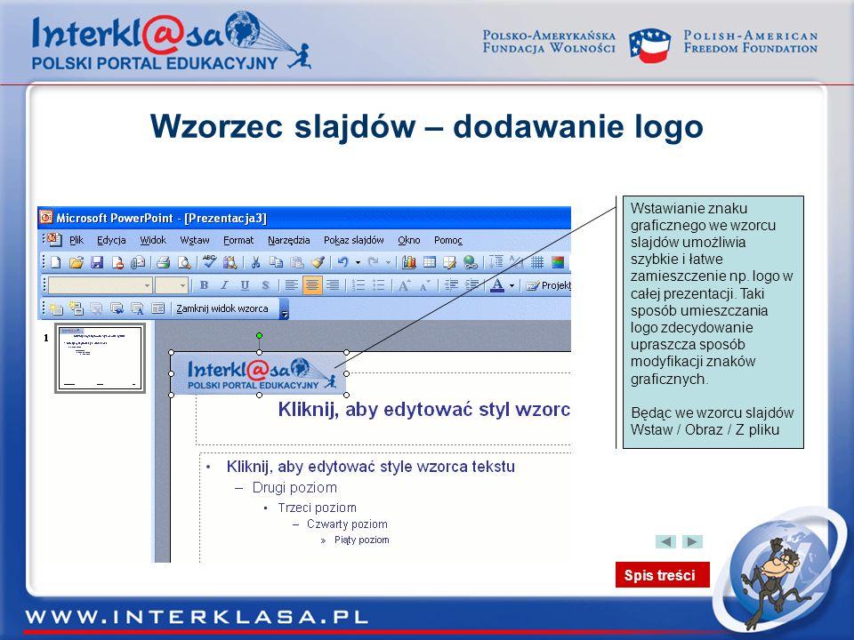 Wzorzec slajdów – dodawanie logo