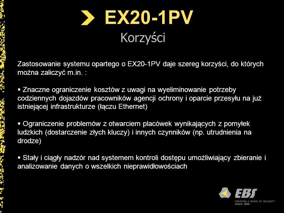 EX20-1PV Korzyści. Zastosowanie systemu opartego o EX20-1PV daje szereg korzyści, do których można zaliczyć m.in. :