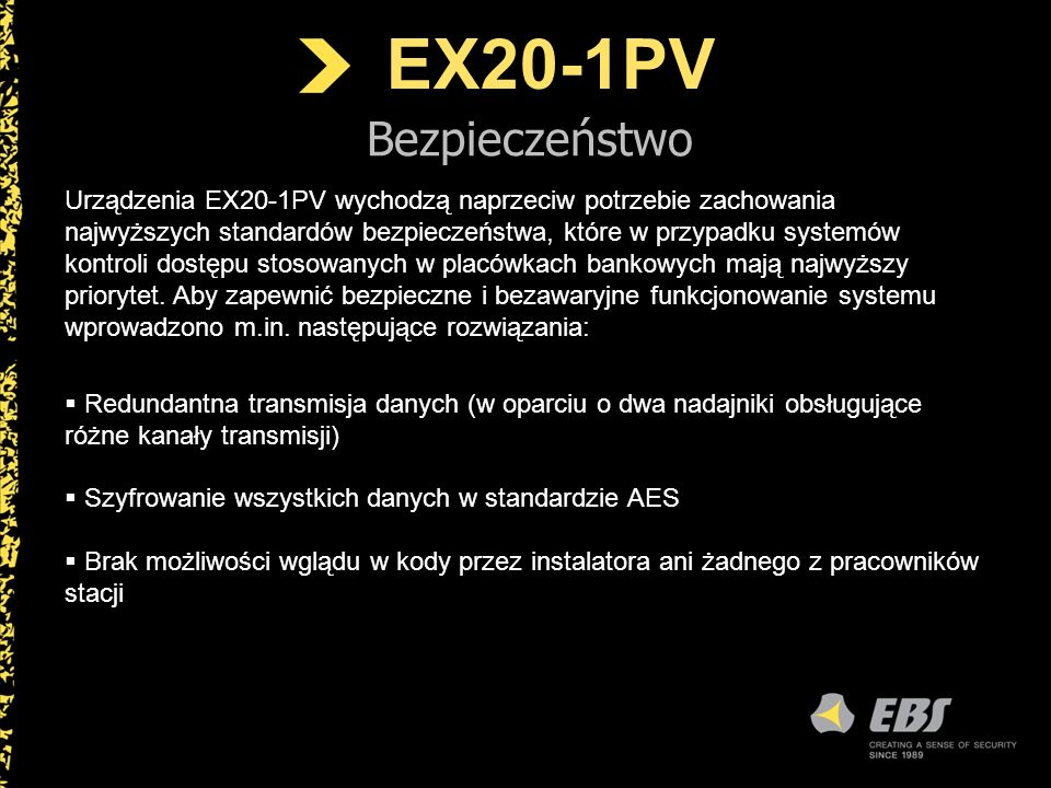 EX20-1PV Bezpieczeństwo.