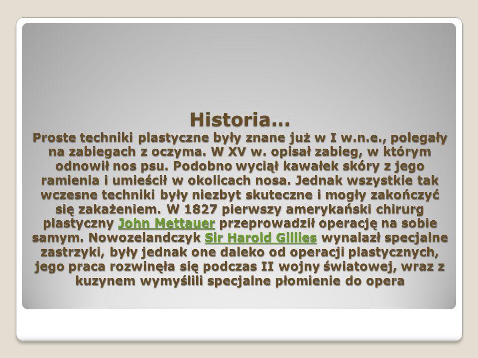 Historia… Proste techniki plastyczne były znane już w I w. n. e