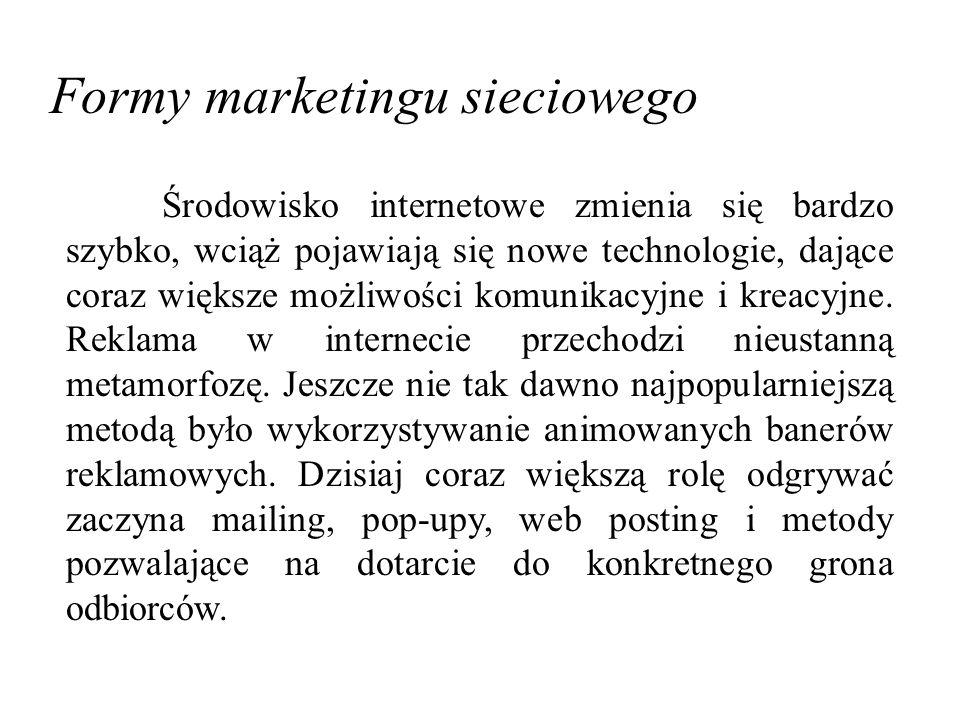 Formy marketingu sieciowego