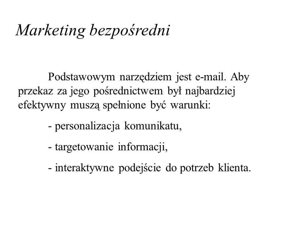 Marketing bezpośredni