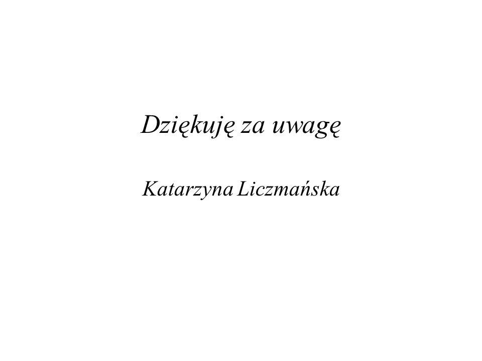 Dziękuję za uwagę Katarzyna Liczmańska