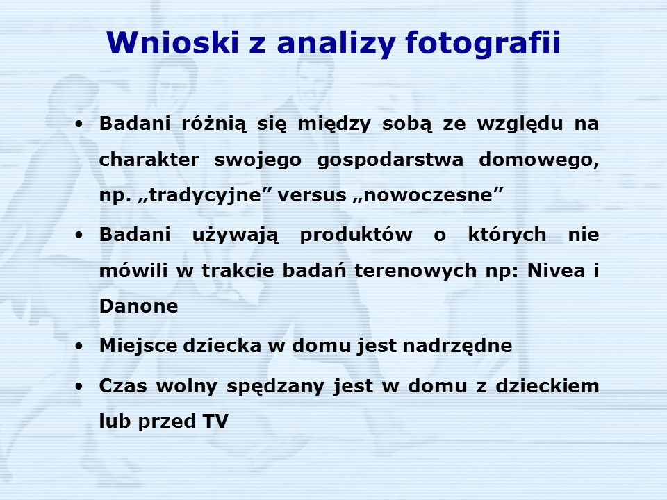Wnioski z analizy fotografii