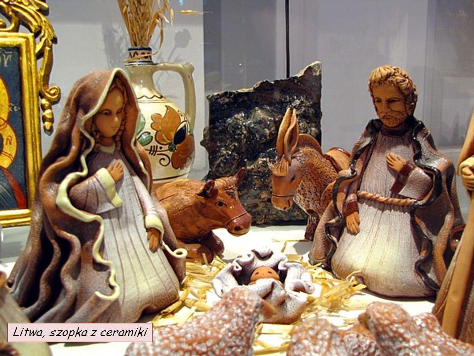 Litwa, szopka z ceramiki