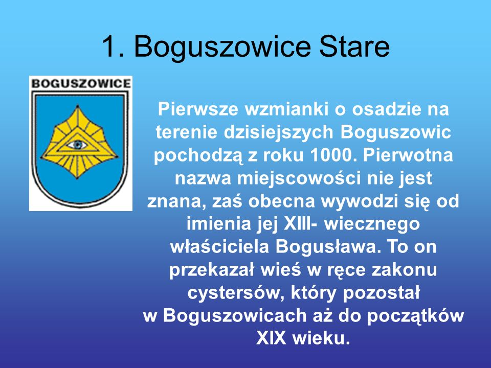 1. Boguszowice Stare