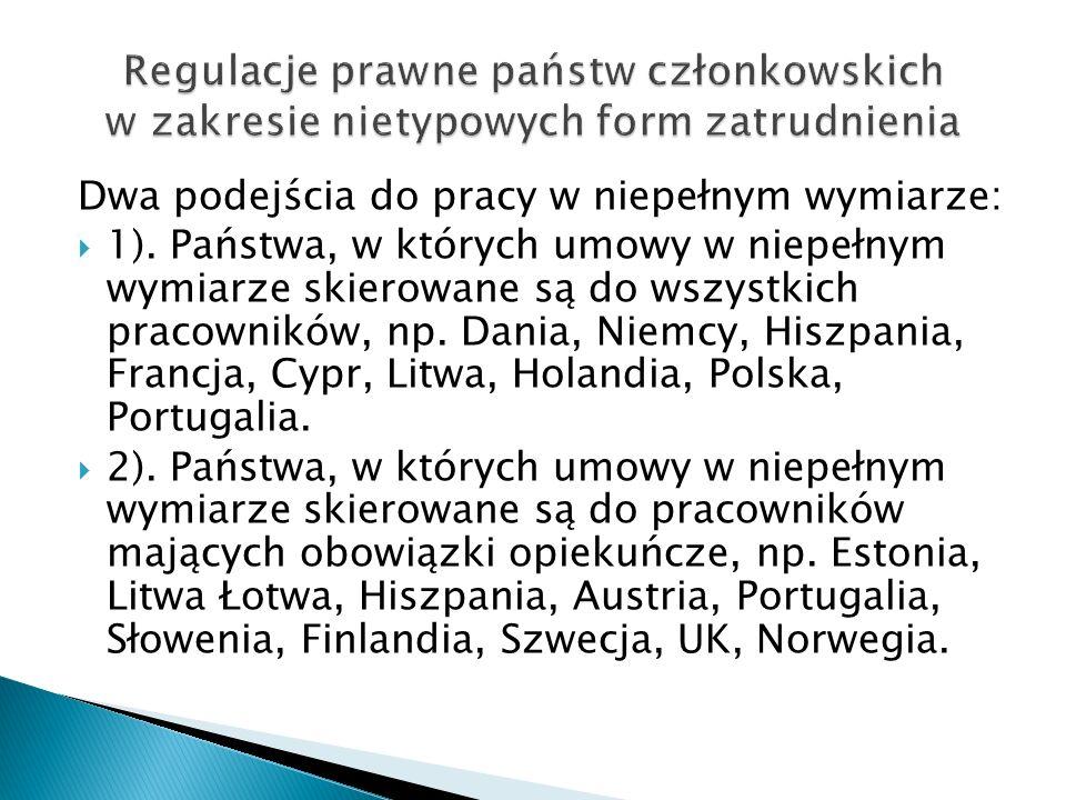 Regulacje prawne państw członkowskich w zakresie nietypowych form zatrudnienia