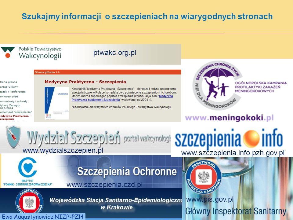 Szukajmy informacji o szczepieniach na wiarygodnych stronach