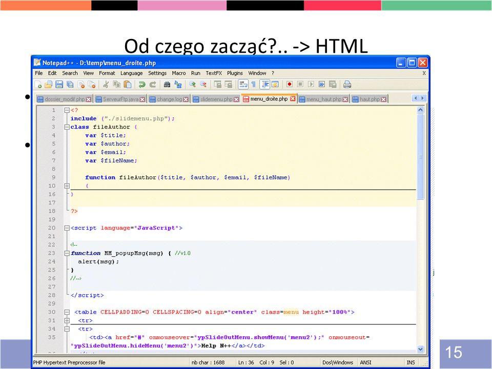 Od czego zacząć .. -> HTML