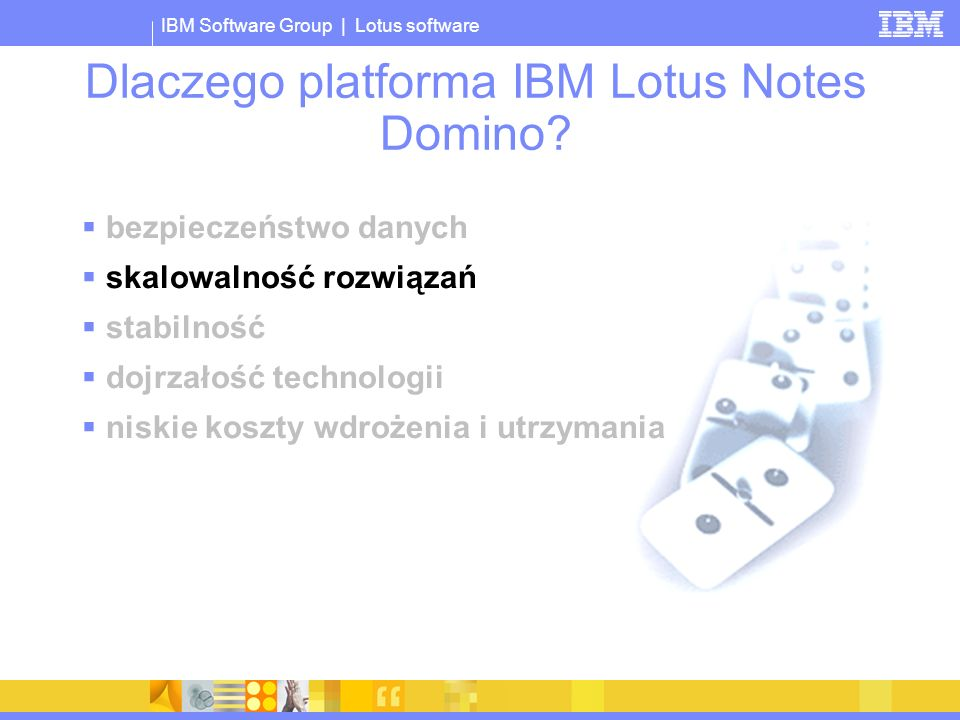 Dlaczego platforma IBM Lotus Notes Domino