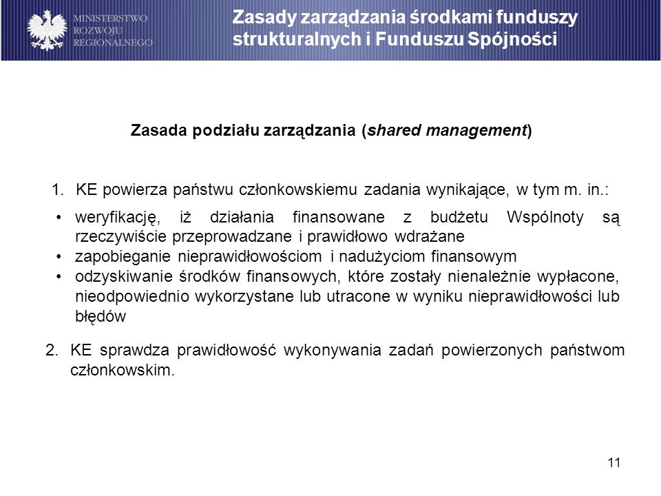 Zasada podziału zarządzania (shared management)