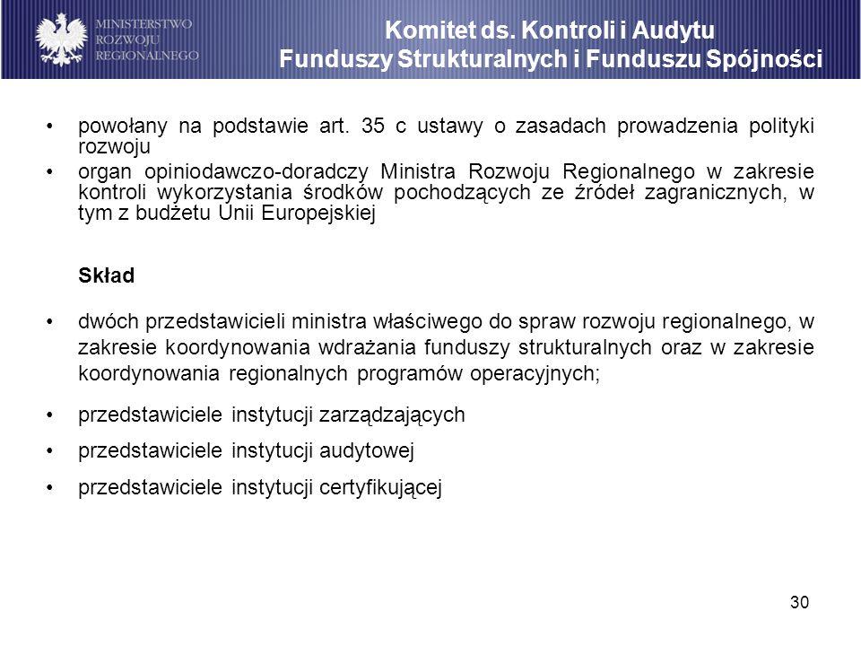 Komitet ds. Kontroli i Audytu Funduszy Strukturalnych i Funduszu Spójności