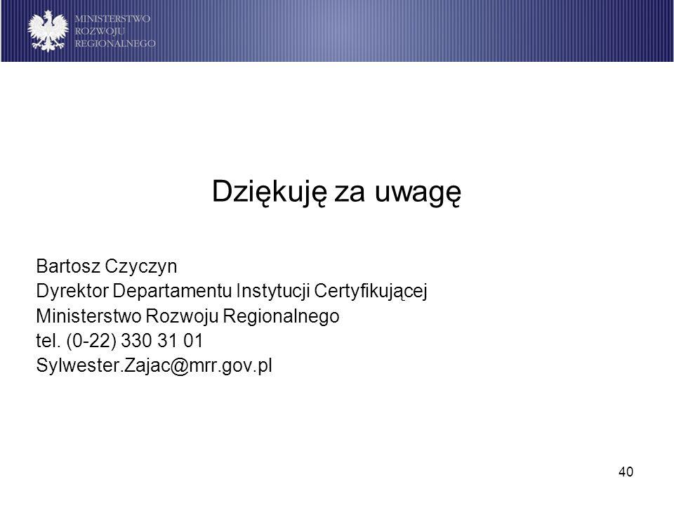 Dziękuję za uwagę Bartosz Czyczyn