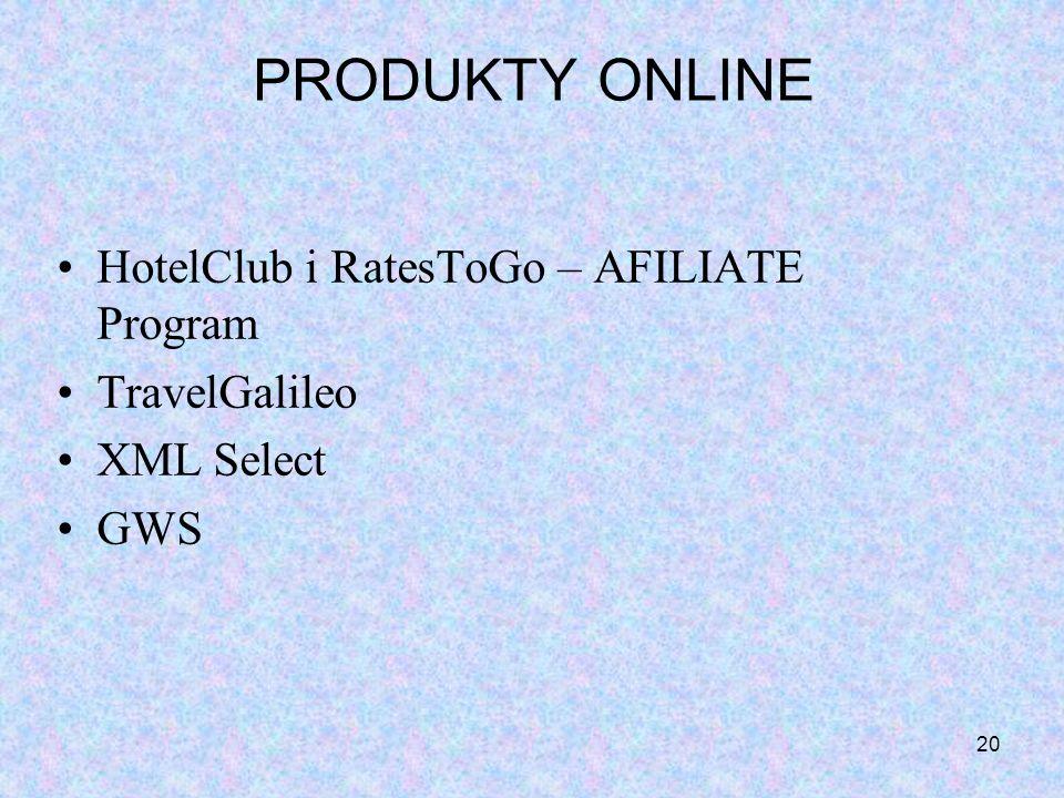PRODUKTY ONLINE HotelClub i RatesToGo – AFILIATE Program TravelGalileo