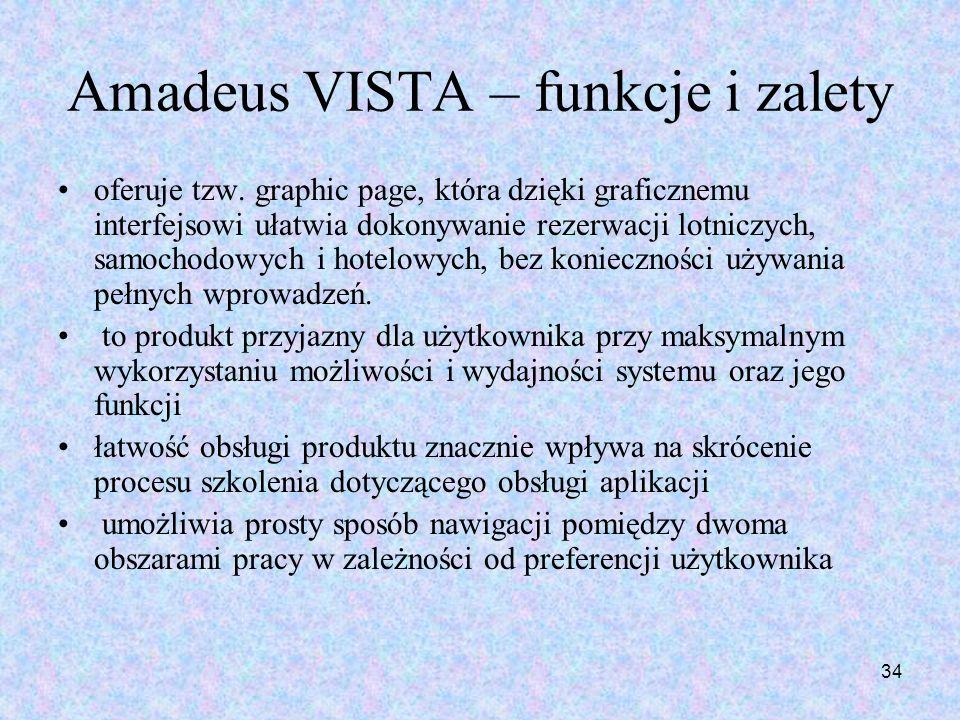 Amadeus VISTA – funkcje i zalety