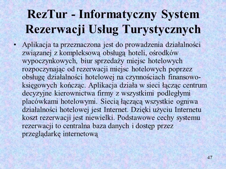 RezTur - Informatyczny System Rezerwacji Usług Turystycznych