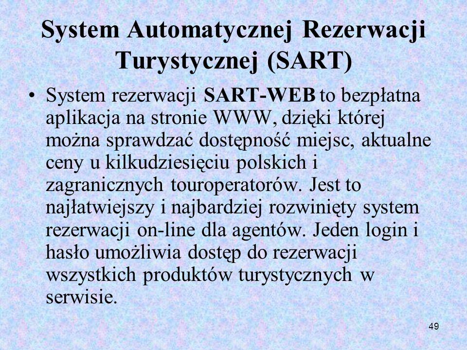 System Automatycznej Rezerwacji Turystycznej (SART)