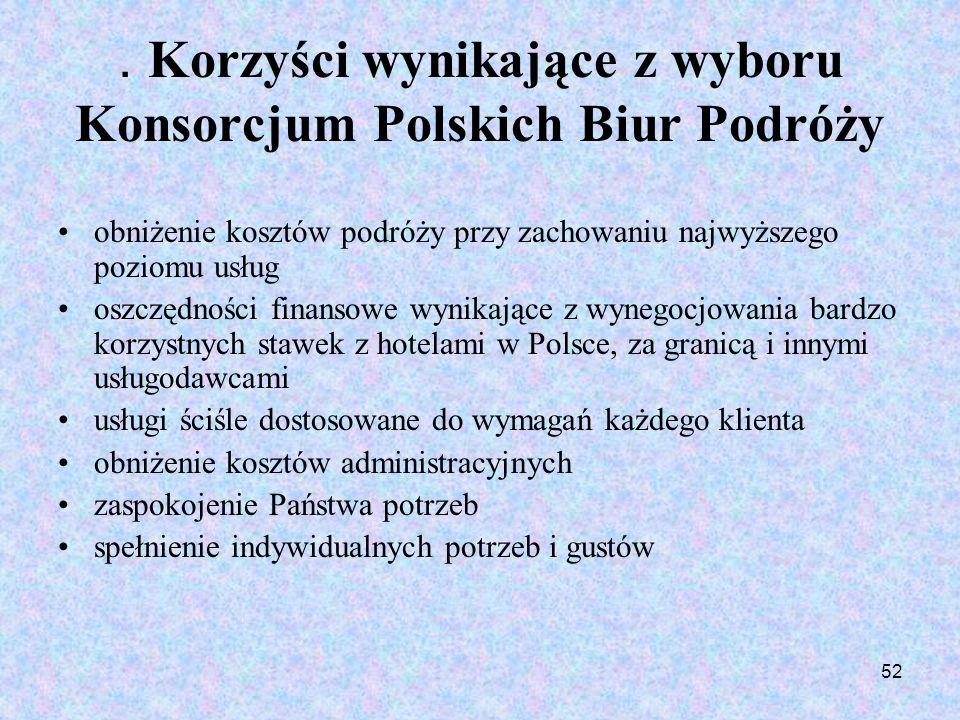 . Korzyści wynikające z wyboru Konsorcjum Polskich Biur Podróży