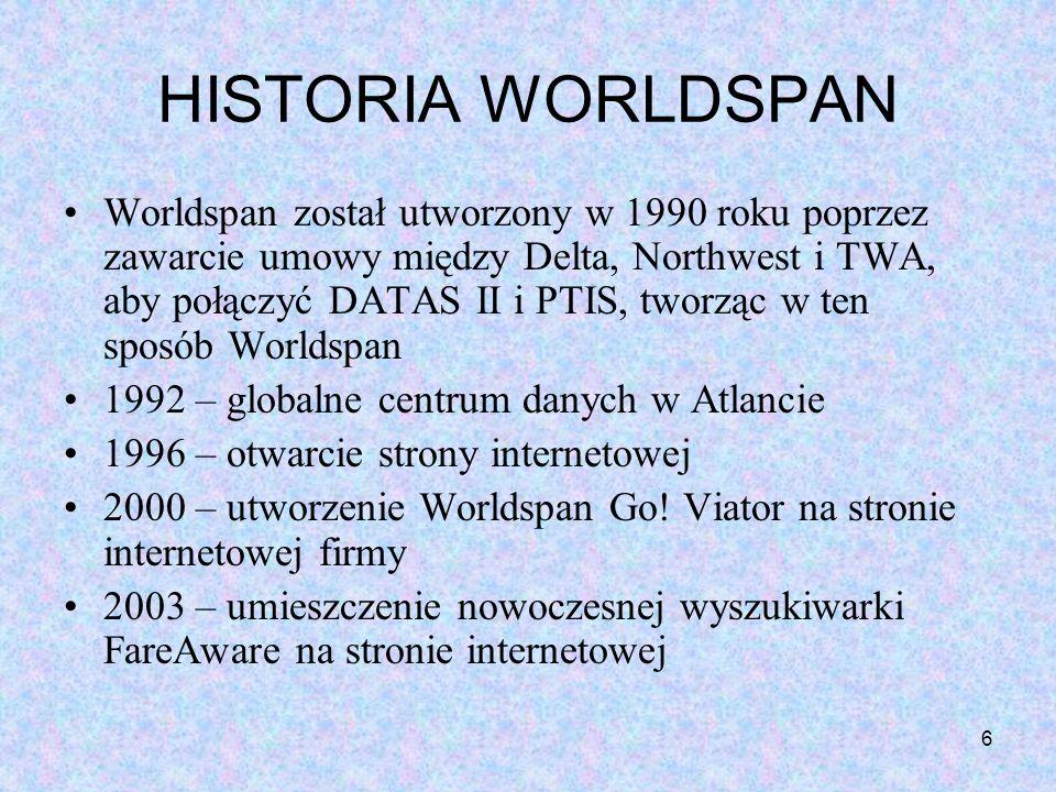 HISTORIA WORLDSPAN