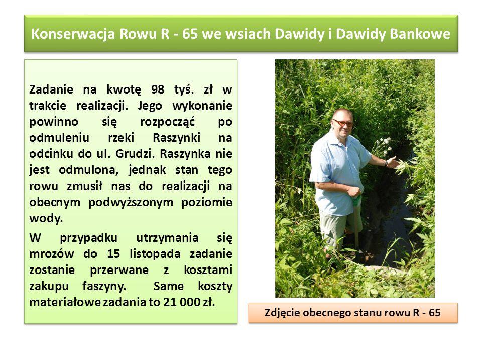 Konserwacja Rowu R - 65 we wsiach Dawidy i Dawidy Bankowe