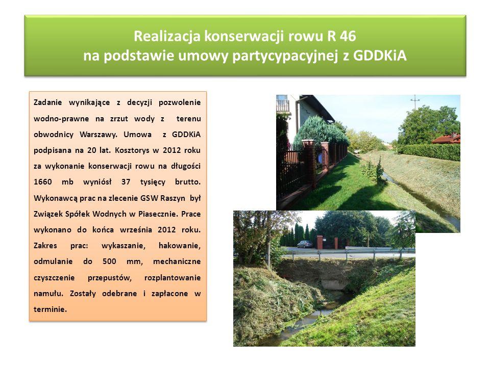 Realizacja konserwacji rowu R 46 na podstawie umowy partycypacyjnej z GDDKiA